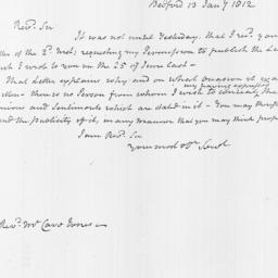 Document, 1812 January 13