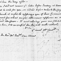 Document, 1803 November 18