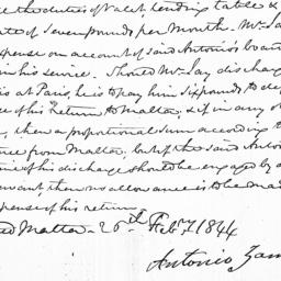 Document, 1844 February 25