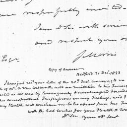 Document, 1823 December 20