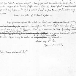 Document, 1784 November 21