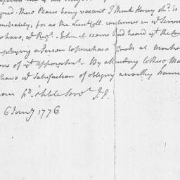 Document, 1776 January 06