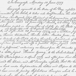 Document, 1777 June 30