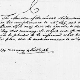 Document, 1786 February 09