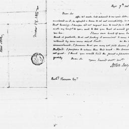 Document, 1805 October 07
