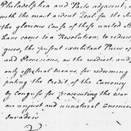Document, 1779 June 01