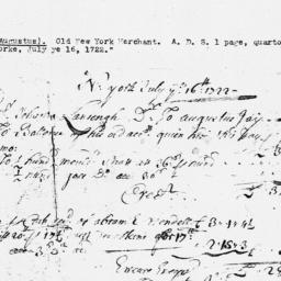 Document, 1723 October 30