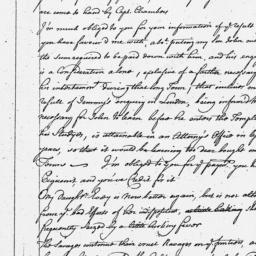 Document, 1763 December 20