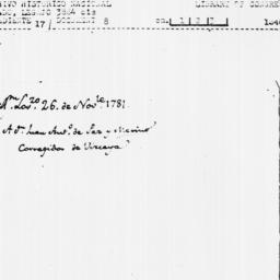 Document, 1781 November 26