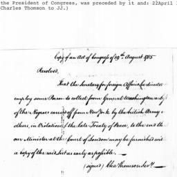 Document, 1785 August 19