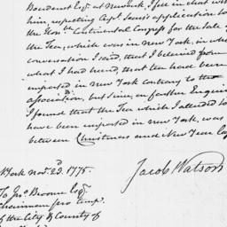 Document, 1775 November 23
