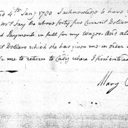 Document, 1781 January 4
