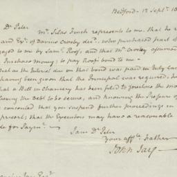 Document, 1820 September 12