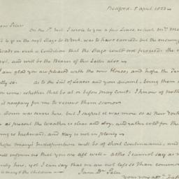 Document, 1823 April 05