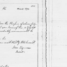 Document, 1779 March n.d.