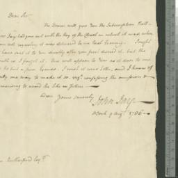 Document, 1786 August 09