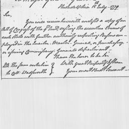 Document, 1779 July 15